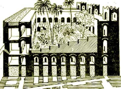 Visuté záhrady Semiramis v Babylone